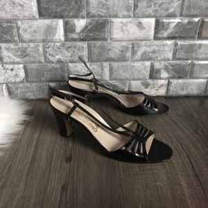Salvatore Ferragamo black patent leather heels 9